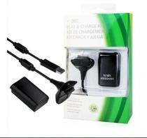 Bateria Para Controle Xbox 360 Com Cabo E Carregador Preto - Giganteeletro