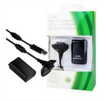 Bateria Para Controle Xbox 360 Com Cabo E Carregador Preto - King