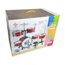 Bateria Para Crianças Infantil Instrumento Músicas Completa - Geral