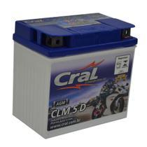 Bateria para moto selada 5Ah polo positivo direito - Cral