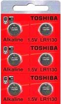 Bateria Pilha LR1130 AG10 Toshiba 1,5v Alcalina Botão Cart C/10 Unid Aplicação: Eletrônicos e Outros -