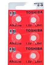 Bateria Pilha LR41 AG3 Toshiba 1,5v Alcalina Botão Cart C/10 Unid Aplicação: Brinquedos Eletrônicos -