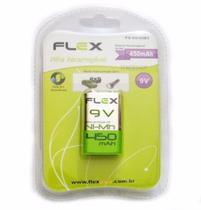 Bateria Pilha Recarregável 9v 450mah Ni-mh Flex Fx-9v/45b1 -