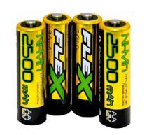 Bateria Pilha Recarregável AA 2A 2500mah - Flex C/04 Unidades -