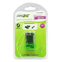 Bateria Recarregável 9v 250mah 6f22 Nimh Br9v250mah Flex -