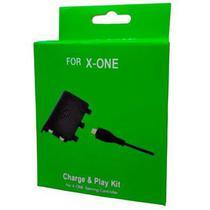 Bateria Recarregável E Cabo Usb Para Controle Xbox One + Carregador Base - Pajé