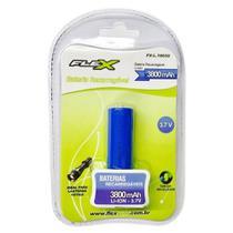 Bateria Recarregável Lanterna 3.7V 3800mAh Flex FX-L.18650 -