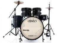 Bateria RMV FiberTech Silky Black 22,10,12,16 com Pratos, Baquetas e Ferragens (Exclusiva) - RMV Drums