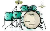 Bateria RMV FiberTech Verde Mar 22,10,12,14,16 com Pratos, Baquetas e Ferragens (Exclusiva) - RMV Drums