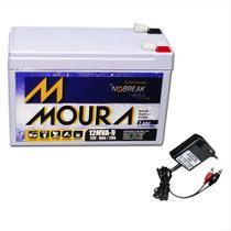 Bateria Selada Moura 12V 12ah + Carregador Led - Nobreak -