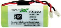 Bateria Telefone S/ Fio 2.4V 600MAH PLUG Univer Tipo 69 - Flex