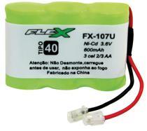 Bateria Telefone S/ Fio 3.6V 400MAH PLUG Univer Tipo 40 - Flex