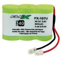 Bateria telefone s/ fio 3.6v 400mah plug univer unidade - FLEX