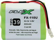 Bateria Telefone S/ Fio 3.6V 600MAH PLUG Univer Tipo 39 - Flex