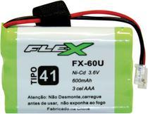 Bateria Telefone S/ Fio 3.6V 600MAH PLUG Univer Tipo 41 - Flex