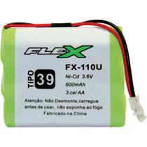 Bateria telefone s/ fio 3.6v 600mah plug univer unidade - Flex