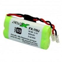 Bateria Telefone Sem Fio 2.4V 600mah 2AAA Universal FX-70U - Flex