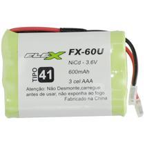 Bateria Universal Para Telefone Sem Fio 600mAh 3.6V FX-60U Flex -