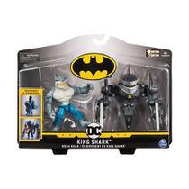 Batman Figuras de Luxo com Armadura - King Shark SUNNY BRINQUEDOS - Dc Comics