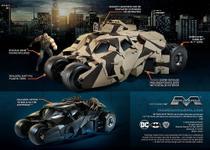 Batmovel - The Dark Knight Armored Tumbler with Bane - MOEBIUS - Revell