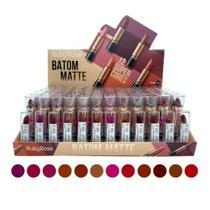 Batom Matte Ruby Rose Revenda - Kit C/ 12 Unidades -