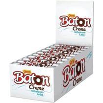 Baton Chocolate ao leite com recheio de creme 480g - Garoto -