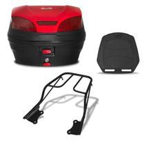 Bau 30 Litros Pro Tork Smartbox 3 + Bagageiro Fazer 250 2009/14 Vermelho -