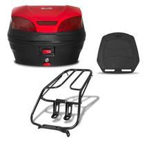 Bau 30 Litros Pro Tork Smartbox 3 + Bagageiro Titan 150 2005 até 2008 Vermelho -