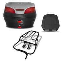 Bau 30 Litros Pro Tork Smartbox 3 + Bagageiro Titan 150 Sport Prata -