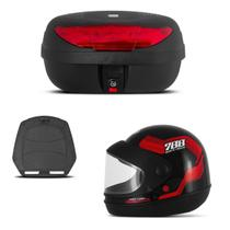 Baú 45 Litros Pro Tork + Capacete Sport Moto 788 -