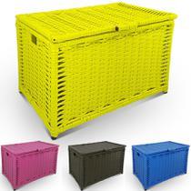 Baú de Brinquedos Cesto de Roupas Grande 64x41x44 - Genus móveis