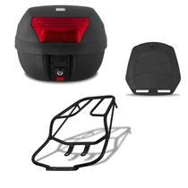 Bau De Moto 28 Litros Pro Tork Com Bagageiro Titan 150 / Fan 125/150 2009 Até 2013 -