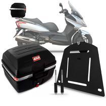 Baú Moto 27 Litros Givi + Suporte Bagageiro Kymco Downtown -