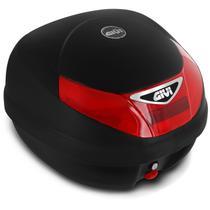 Baú Moto Bauleto 30 Litros Givi E30N Monolock Tour Bagageiro Universal Preto Vermelho -