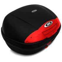 Baú Moto Bauleto 45 Litros Givi E450N Monolock Simply Bagageiro Universal Preto Para 2 Capacetes -