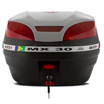 Bau Moto Bauleto Mixs 30 Litros Moto Bagageiro MX30 Pro Tork Universal Com Chave -