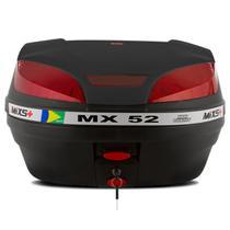 Bau Moto Bauleto Mixs 52 Litros Bagageiro MX52 Universal Com Chave -