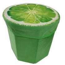 Baú Organizador Puff Frutas Dobrável 30 cm - Imporiente