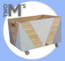 Baú Para Guardar Brinquedos de Madeira com Rodinhas - Two M'S