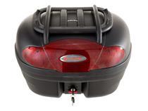 Bauleto para Moto 46 Litros Vermelho com Grade e Base - Glider