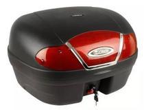Bauleto para Moto 46 Litros Vermelho Reforçado e Base - Glider
