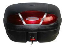 Bauleto para Moto 46 Litros Vermelho Reforçado e Base. - GLIDER