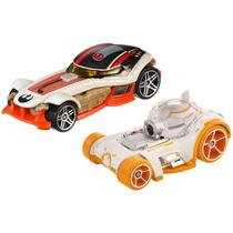BB-8  Poe Dameron - Carrinho - Hot Wheels - Star Wars - The Last Jedi - 2 Pack -