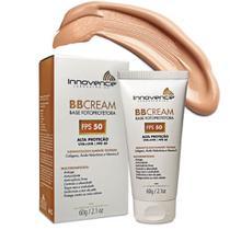 BB Cream Base Fotoprotetora FPS 50 Tonalizante / Bege Médio - 60g - Innovence Laboratórios