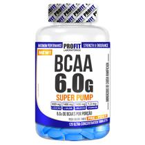 BCAA 6.0 G - SUPER PUMP - Pote 120 Tabletes - Profit