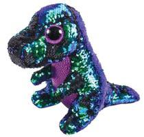 Beanie Boos Paete Crunch Dinossauro Azul E Verde 16 cm DTC -