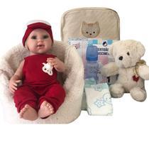 Bebê Boneco Tipo Reborn Menino Com Kit De Acessórios E Bolsa - Doce Magia