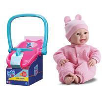 Bebê Conforto Baby Alive + Boneca Bebê Real New Born Soninho - Divertoys