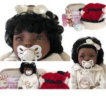 Bebê Princesa Negra Boneca Reborn Realista Linda - Sonho De Criança