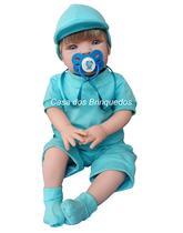 Bebê Realista Reborn Menino  Com Bonezinho -